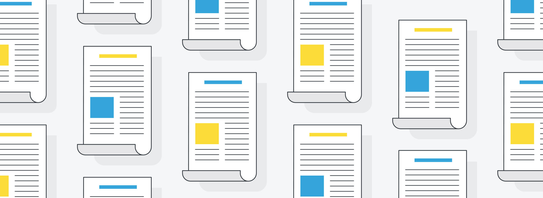 Article graphic image with repeating icons