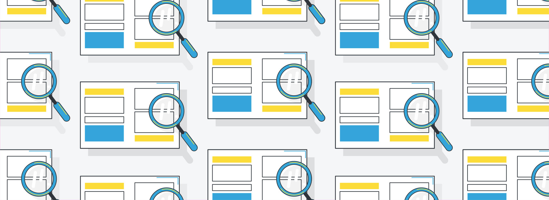 Case study graphic image with repeating icons