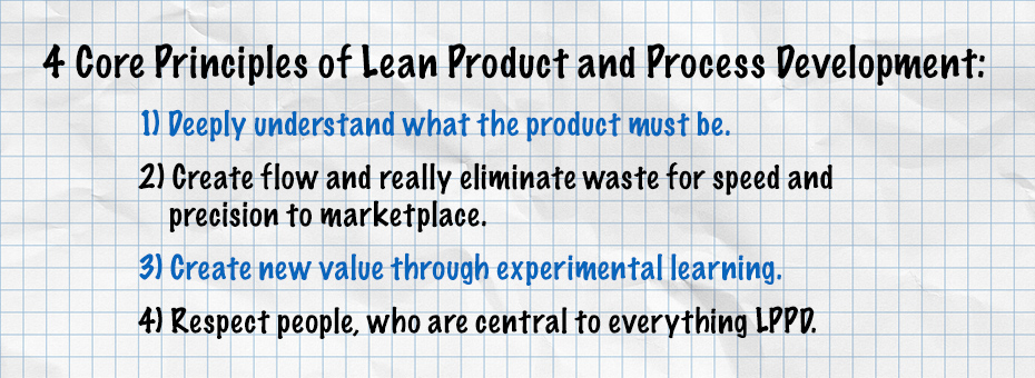 4 Core Principles of Lean Product and Process Development Explained