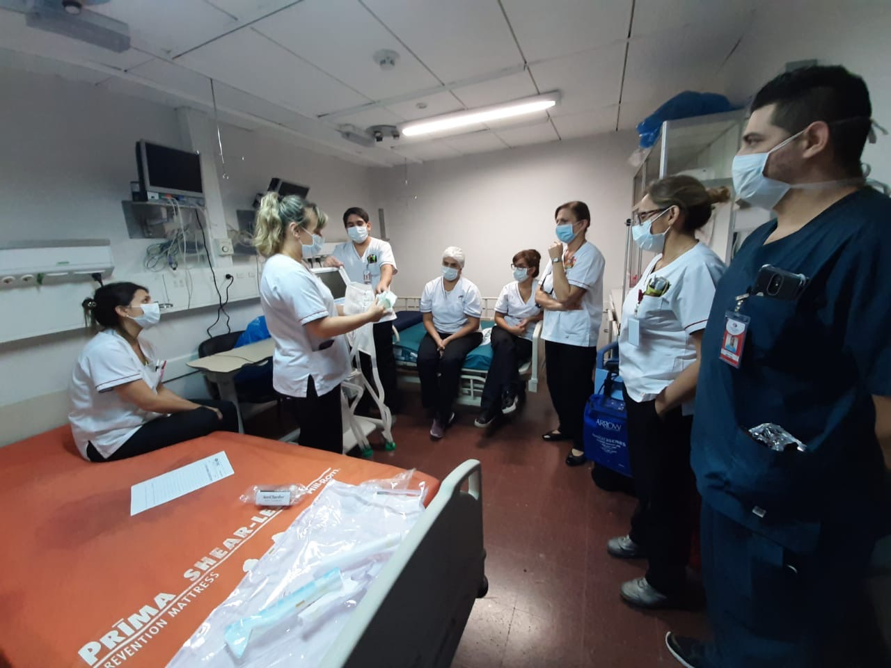 A team meeting in a lean hospital in Argentina