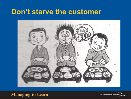 Shook-Don't Starve the Customer