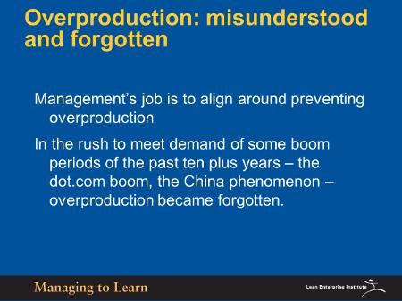 Shook-Overproduction Misunderstood