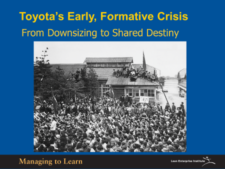 Shook-Toyota's Formative Crisis