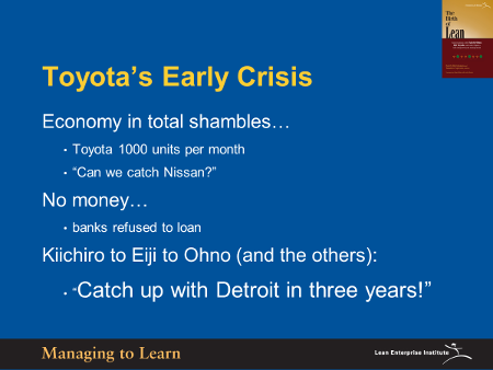 Shook-Toyota's Early Crisis