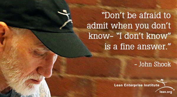 Don't be afraid to admit when you don't know