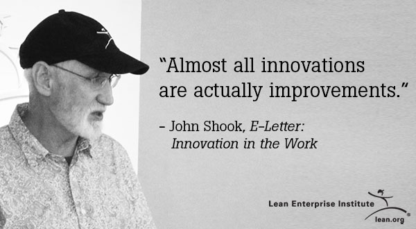 Almost all innovations are actually improvements