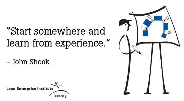 Start somewhere and learn from experience