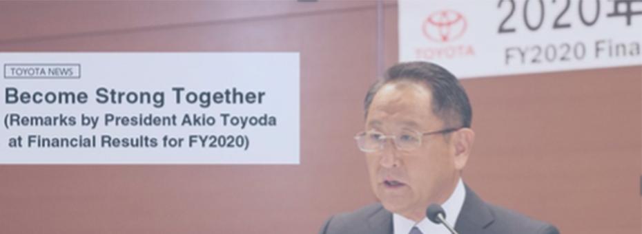 Akio Toyoda addressed the 2020 Crisis