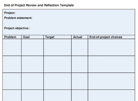 End of Project Review Template (from Perfecting Patient Journeys)