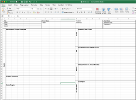 PDSA A3 Template (from On the Mend)