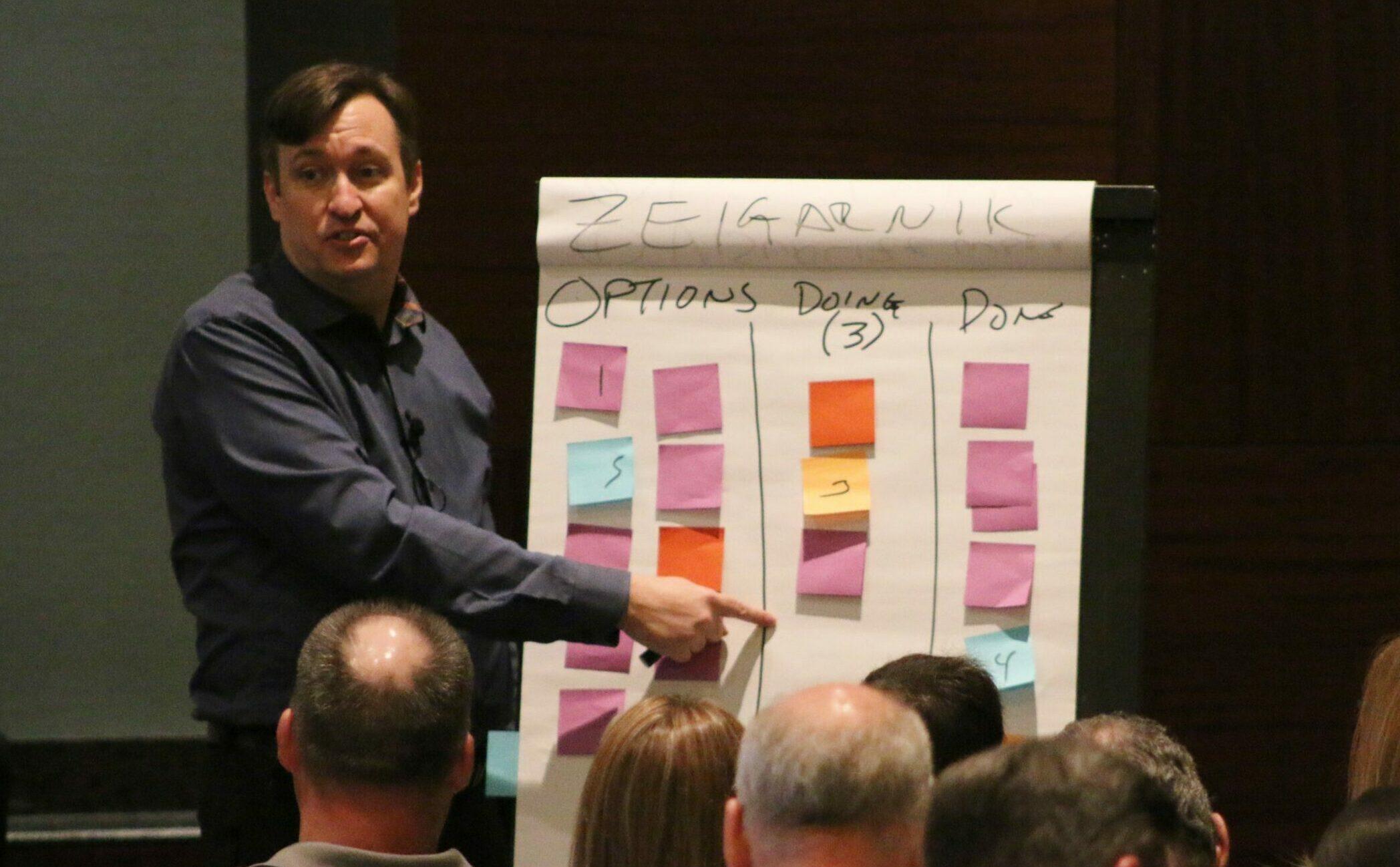 Jim Benson teaching Personal Kanban at Lean Summit