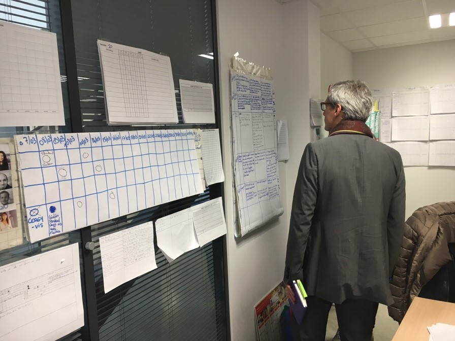Will changing the standard for supervisors' morning gemba walks make them pay more attention?