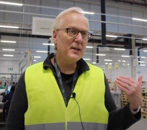 Mark Reich on shop floor