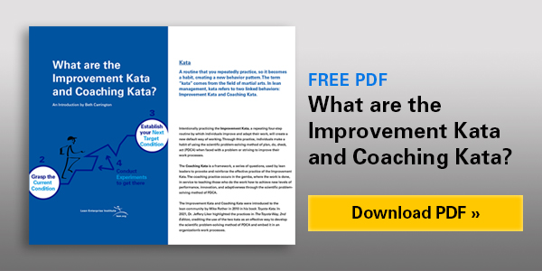 What are the Improvement Kata and Coaching Kata?